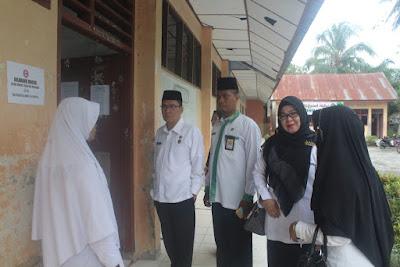 Kakankemenag Tanjungbalai Tinjau Langsung Pelaksanaan USBN