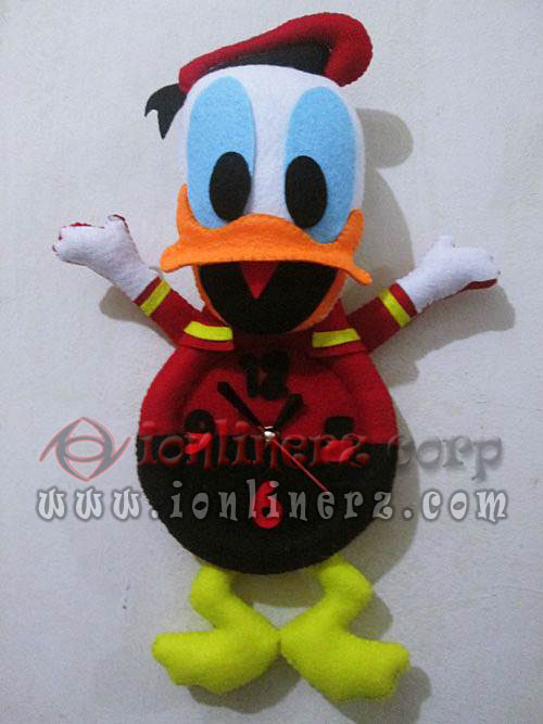 Jam Dinding Flanel Karakter Kartun Boneka Donald Duck