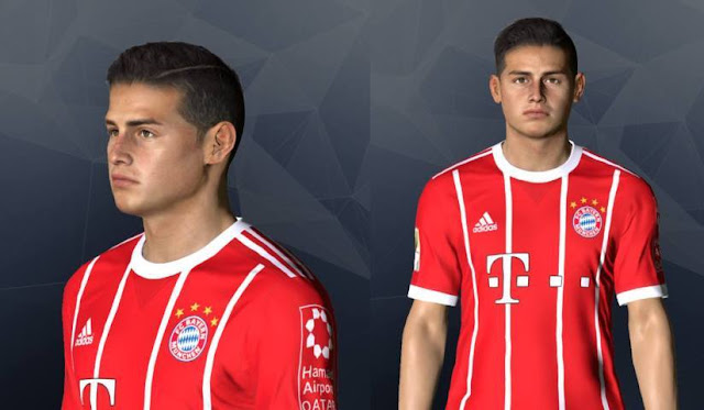 James Rodriguez New Face PES 2017
