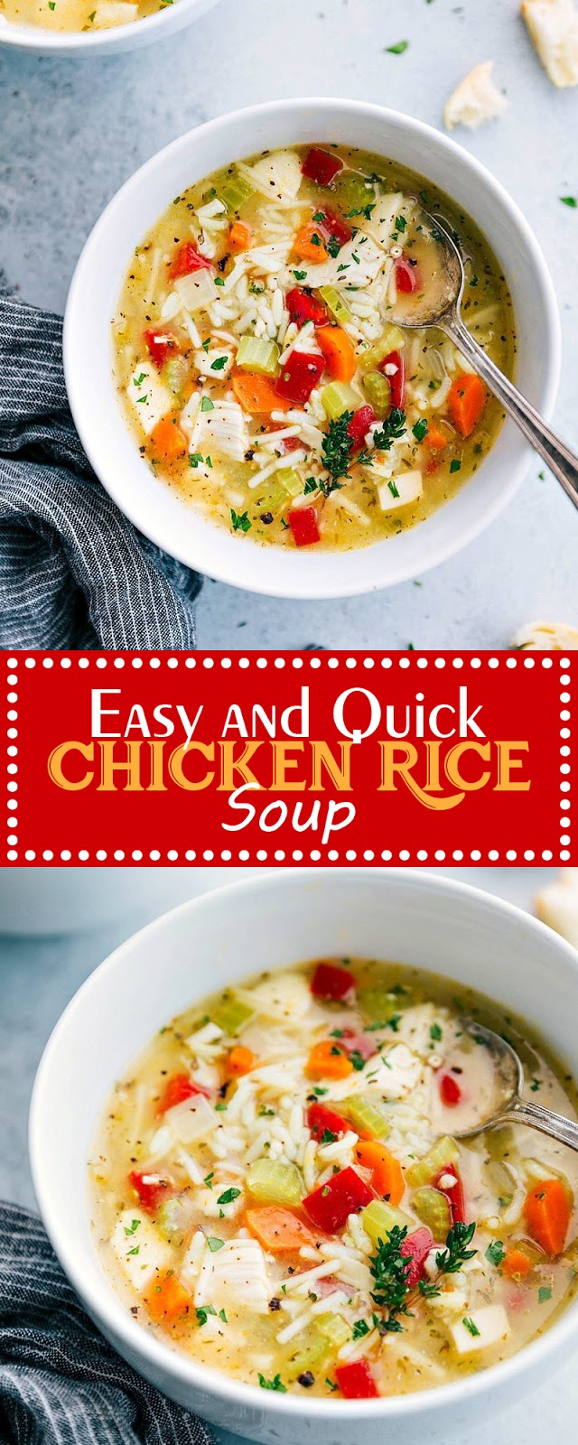 EASY AND QUICK CHICKEN RICE SOUP