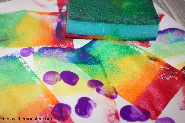 sponge painting for toddlers and preschoolers.