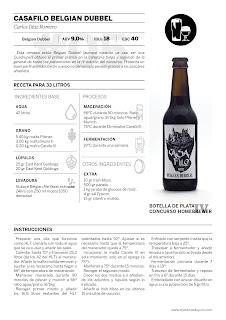 Recetas Homebrewer (4): Casafilo Belgian Dubbel