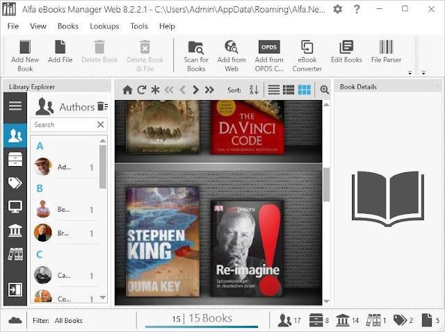 Screenshot Alfa eBooks Manager Web 8.2.2.1 Full Version