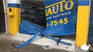 Bando arromba loja de autopeças e prejuízo seria de R$ 20 mil