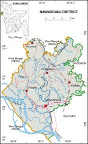 Chapai Nawabganj District: Map in Chapainawabganj