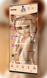 Baby Girl Theme For YOWhatsApp & Fouad WhatsApp By Valéria