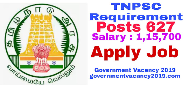 TNPSC Exams 2019 for Technical AsstOfficersInspector  627 Posts  Last Date 6 February 2019 governmentvacancy2019.com