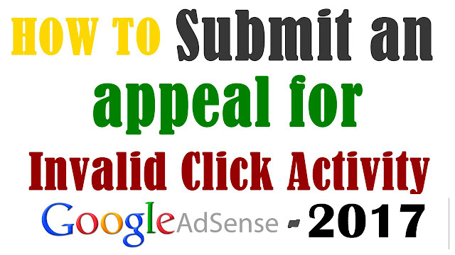 AdSense invalid activity Appeal 100% Get back Disable Adsense Account