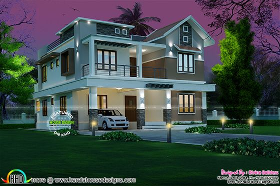 4 Bedroom Modern House 274 Square Meter Kerala Home