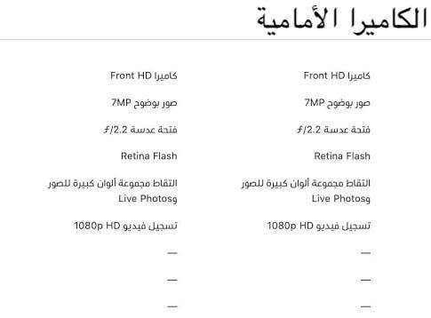 كاميرا ايفون 8 وايفون 8 بلس