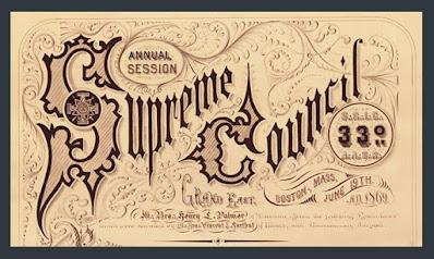 Supreme Council, 33°, NMJ. Scottish Rite document. Henry L. Palmer