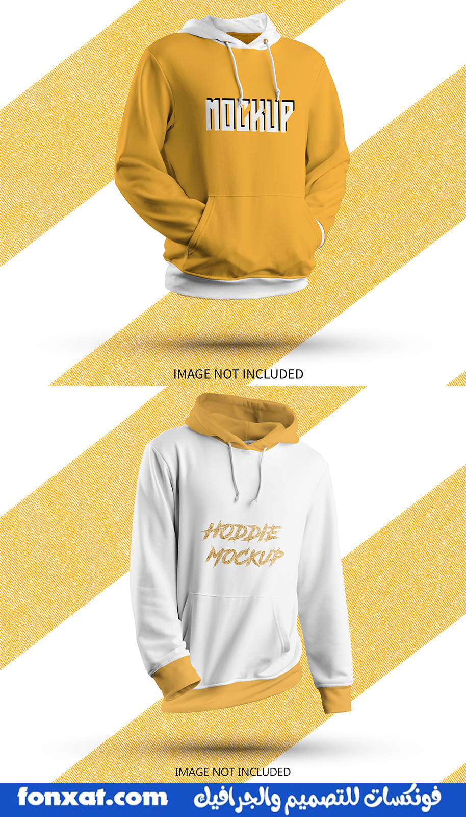 Download 2 mockups of white T-shirt for winter clothes, file 2