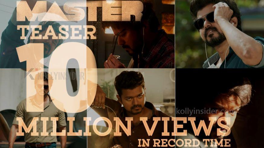 Vijay's 'Master' teaser breaking records