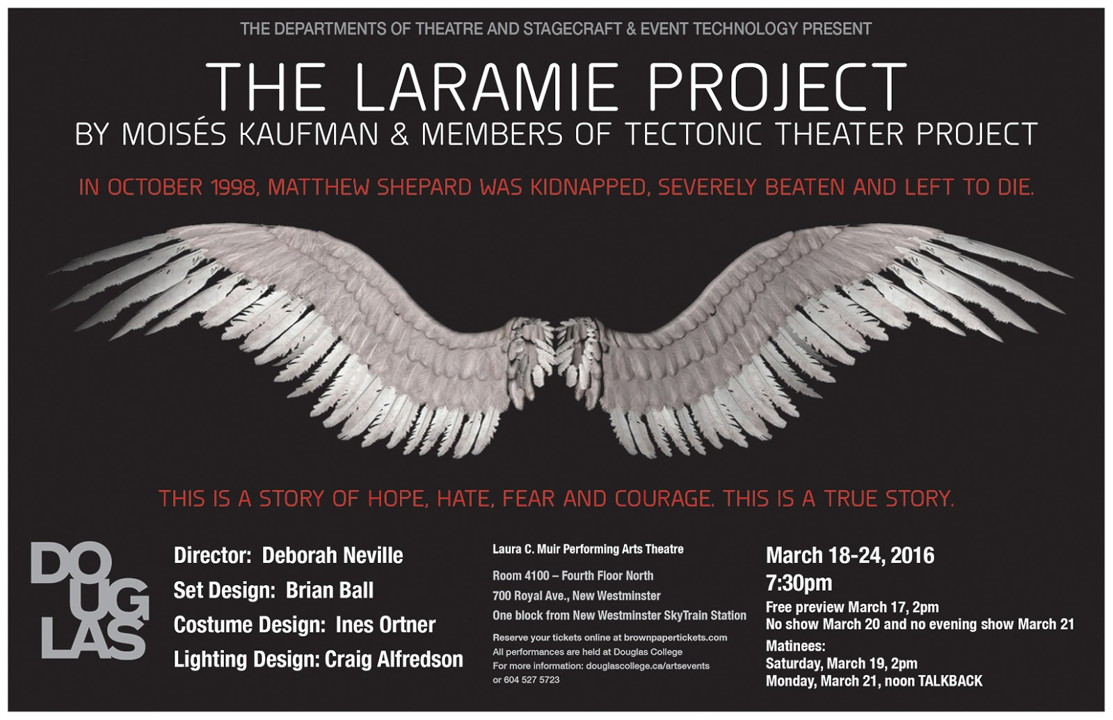 the laramie project summary The laramie project is a breathtaking theatrical collage that explores the depths to which humanity can sink and the heights of compassion of which we are capable details cast attributes : expandable casting, flexible casting.