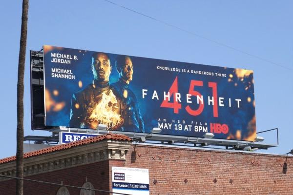 Fahrenheit 451 HBO film billboard