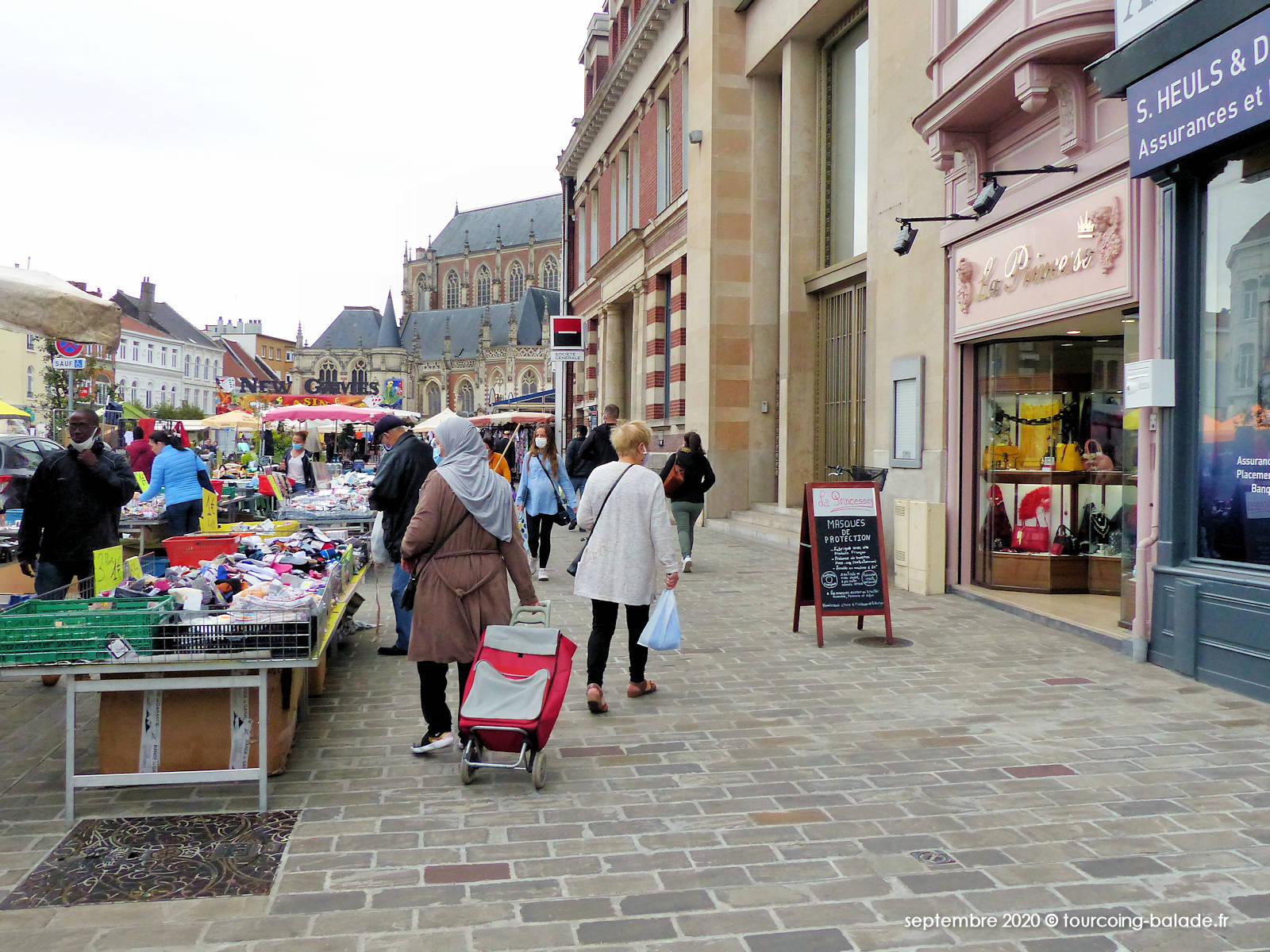 Marché Grand Place, Tourcoing 2020