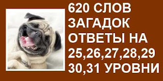 620 слов загадок необыкновенный узел 25, 26, 27, 28, 29, 30, 31 уровни