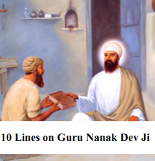 10 lines on Guru Nanak Dev Ji in Hindi
