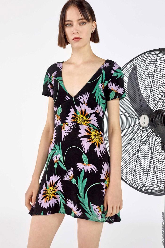 Vestidos cortos estampados primavera verano 2020.