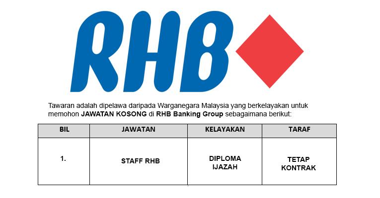 Jawatan Kosong di RHB Banking Group