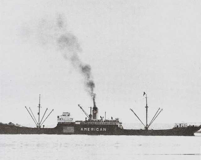 Freighter Azalea City, sunk on 21 February 1942 worldwartwo.filminspector.com
