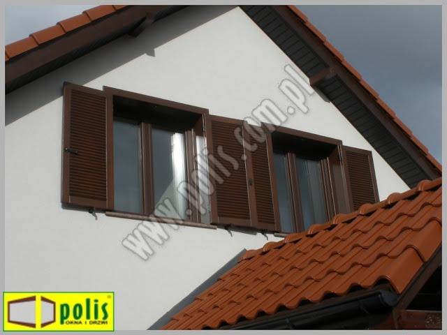 okiennice zewnętrzne, okiennice Poznań, producent okiennic, okiennice z drewna,