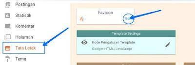 Tahap upload Favicon di blog