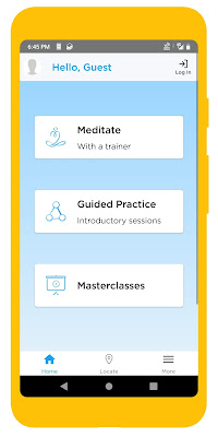 Screenshot of HeartsApp meditation app