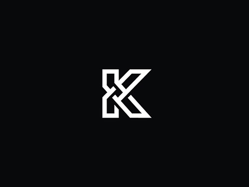 Overlapping technique Logo K