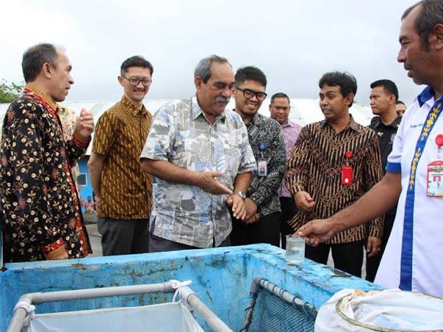 Peter Martin Christian Kunjungi Balai Perikanan Budidaya Laut (BPBL) Ambon