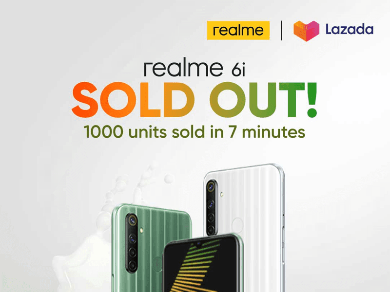 Realme 6i Sold Out in 7 minutes during Lazada Flash Sale!