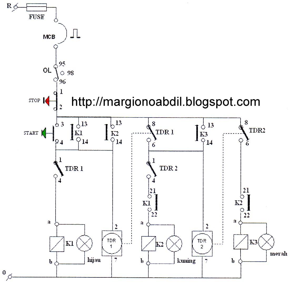 Wiring Diagram Listrik 3 Phase : Wiring diagram kontrol motor engine