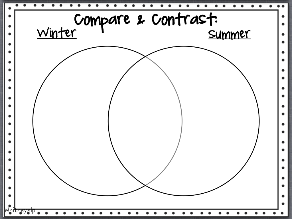 Compare and contrast essay between winter and summer