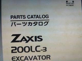 Parts Catalog ZAXIS 200LC-3 EXCAVATOR