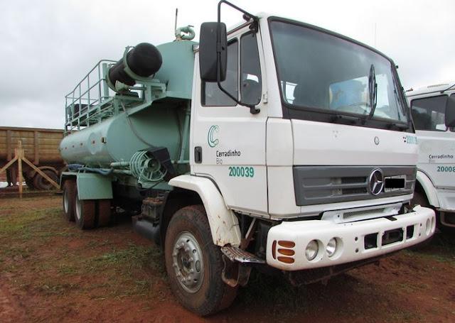 Leilão de caminhões e equipamentos agrícolas da Usina Cerradinho