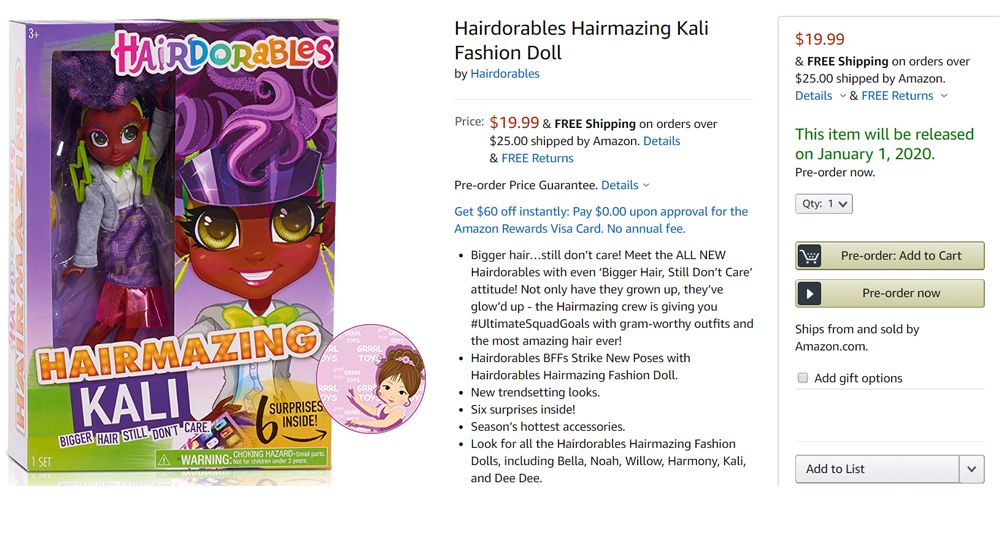 Hairdorables Hairmazing fashion doll price