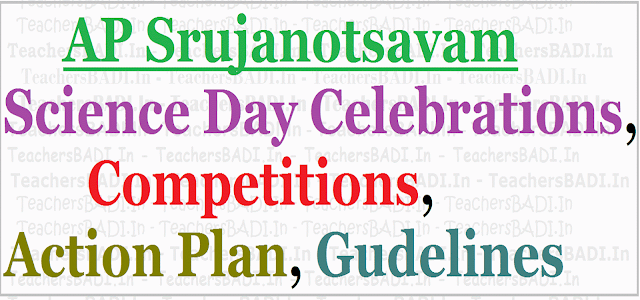 AP Srujanotsavam Science Day Celebrations, Competitions - Action Plan, Gudelines