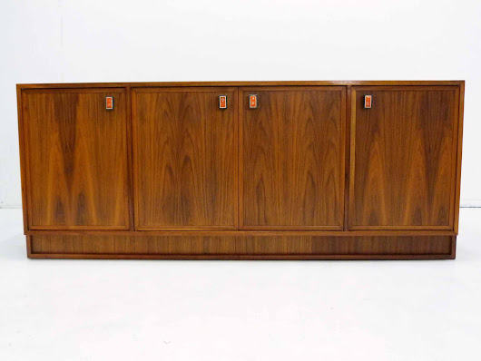 Modernist Mid Century Walnut Sideboard In The Likes Of Frank Kyle
