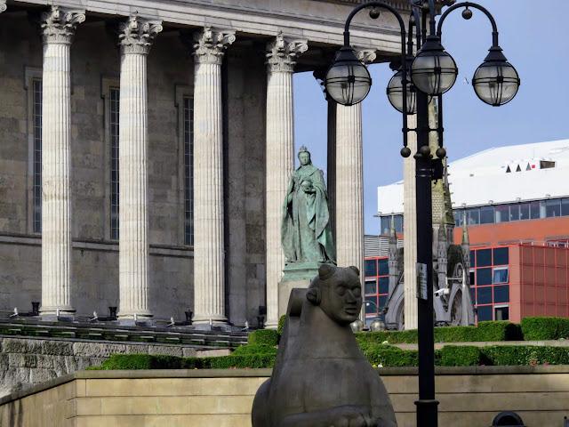Statue of Queen Victoria in Victoria Square in Birmingham, England