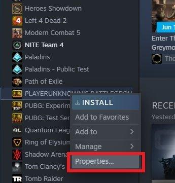 PUBG PC için Steam Başlatma Seçenekleri