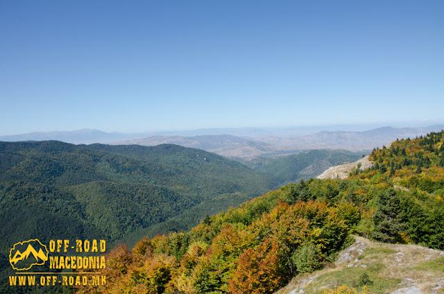 View from Sokol area, WW1 location on Nidze Mountain, Macedonia