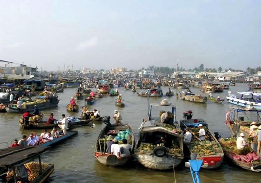 Chợ nổi Cái Răng Cần Thơ tour lục tỉnh miền tây