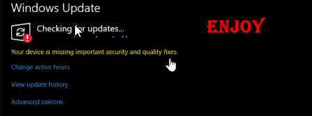 Your Device is Missing Important Security And Quality Fixes 0x80070424