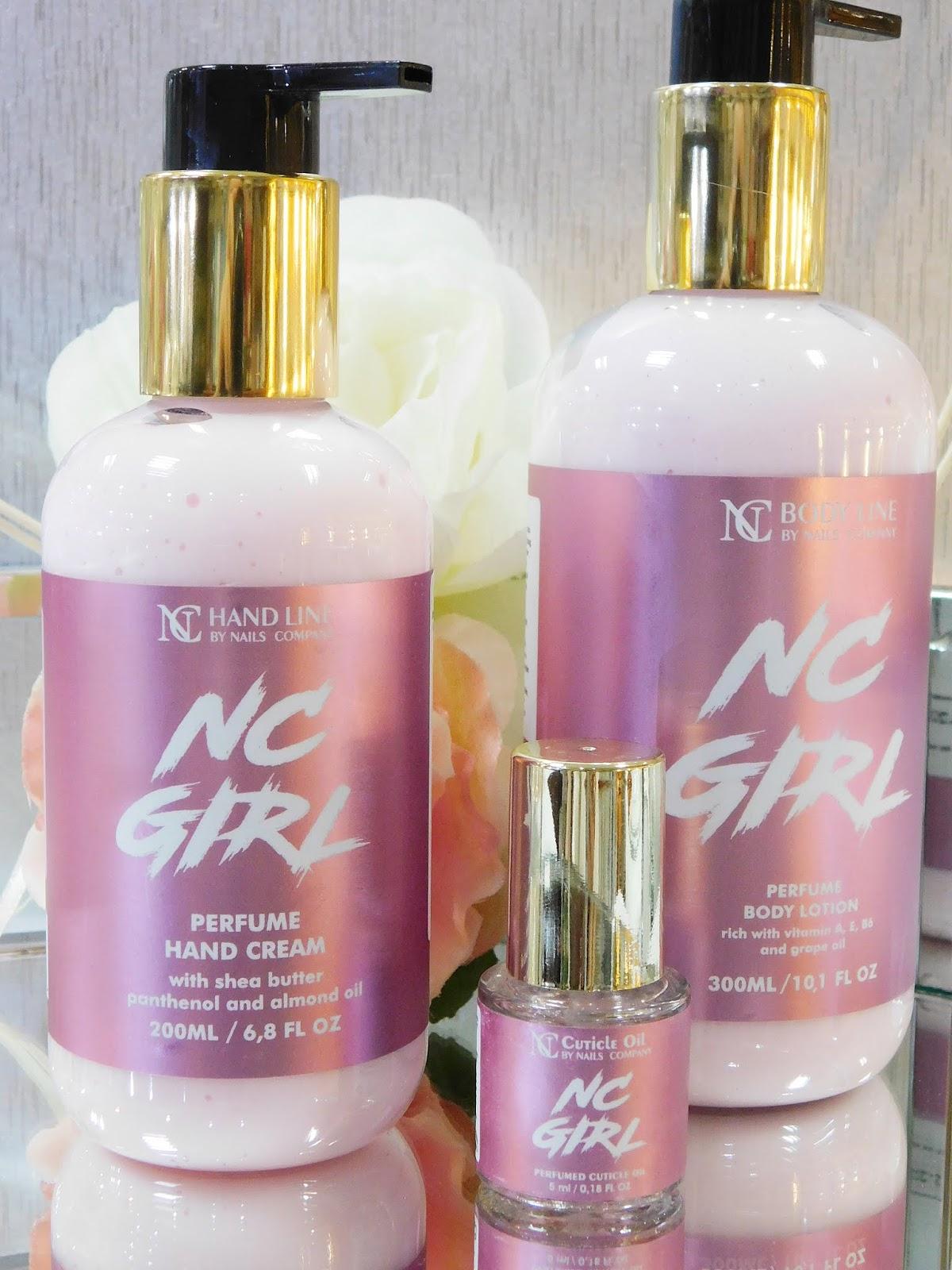 Rozpieść swoje ciało i zmysły z serią perfumową od  NC Nails Company. Balsam do ciała, krem do rąk i oliwka z serii NC Girl.
