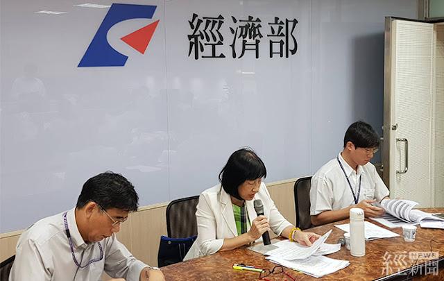 經濟部智慧局長洪淑敏(中)說明上半年智慧財產趨勢