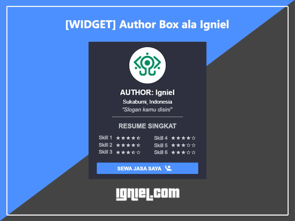 widget author box