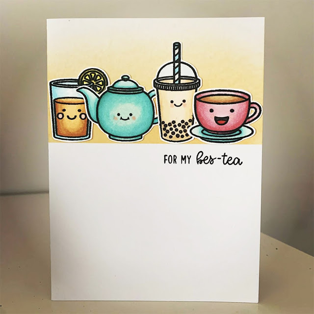 Sunny Studio Stamps: Tea-riffic Summer Sweets Breakfast PunsCustomer Card by Jo Smith