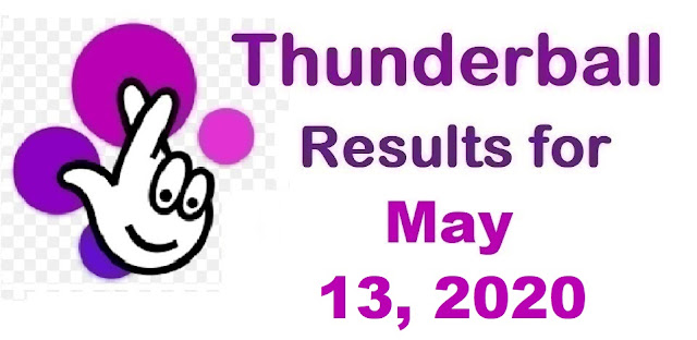 Thunderball Results for Wednesday, May 13, 2020