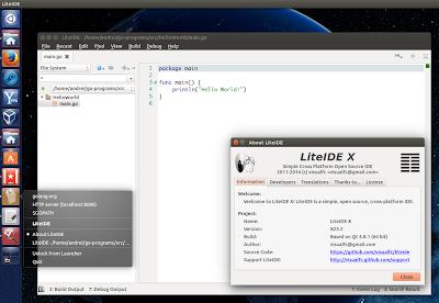 LiteIDE golang Ubuntu