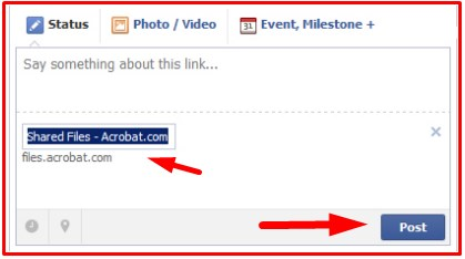 How to Make a PDF Into a Link on Facebook